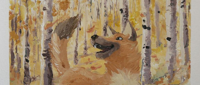 RayJ speedpainting painting speedpainting dog forest