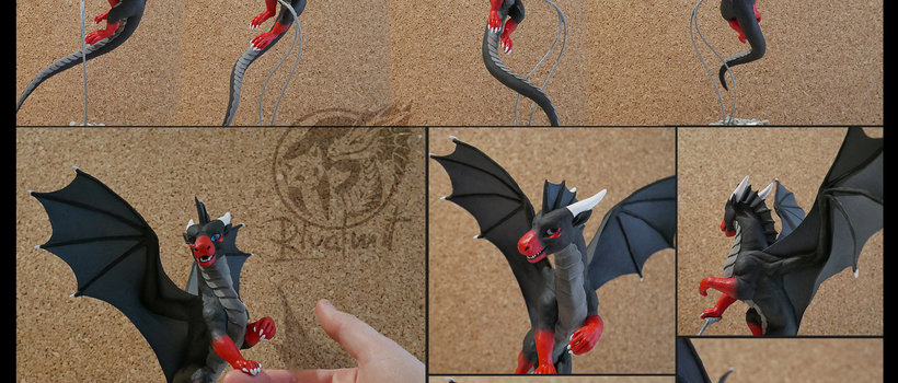 Cryptic Commission sculpture commission companion dragon art