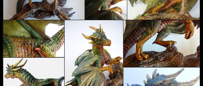 Guardian of the Grove sculpture dragon