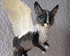 Companion Standard winged cat companion sculpture furry