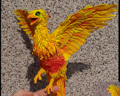 Companion Standard companion furry phoenix sculpture fire bird