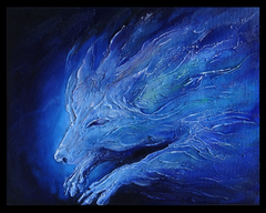 TraditionalArt Relief paintings  wolf spirit paintaing.jpg