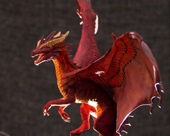 Companion Large rivalmit commission akulatraxas companion sculpture dragon red balanced