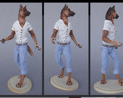 TraditionalSculptures Traditional Sculptures german shepard furry
