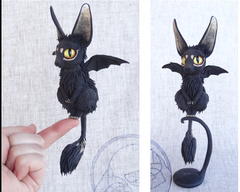 Companion Mini Bat kitty companion sculpture