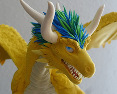 Companion Standard companion sculpture furry yellow dragon