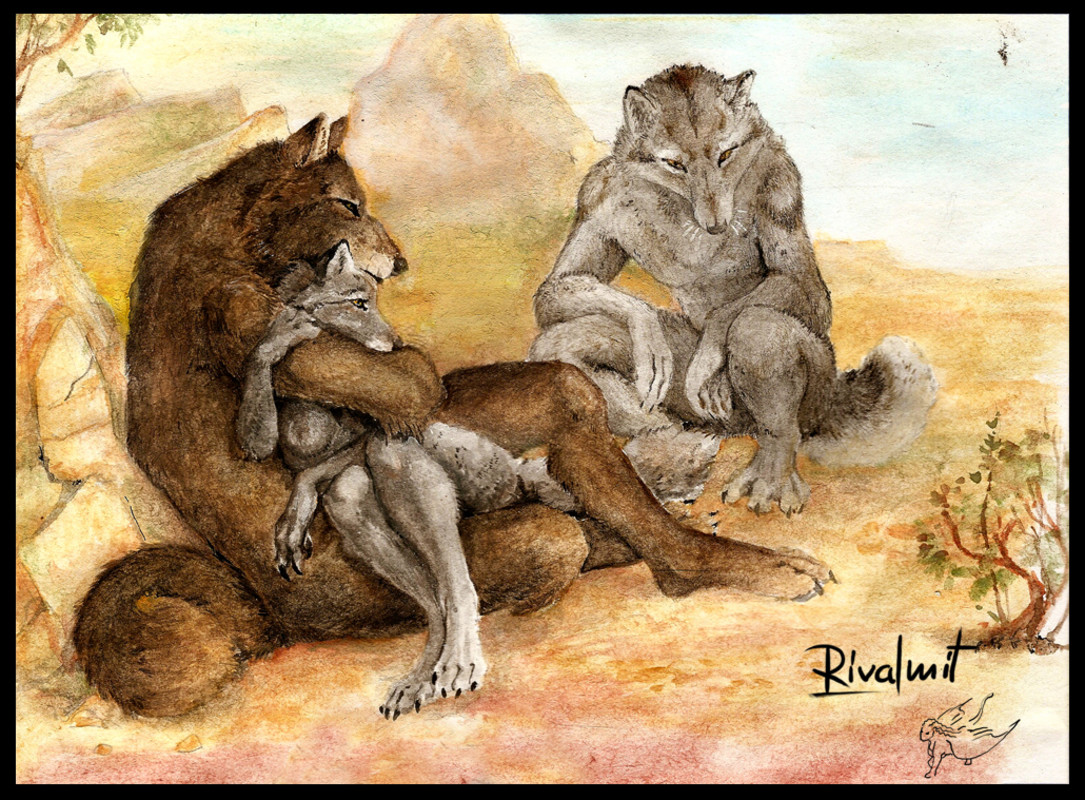 drawing watercolour werewolf anthropomorphic Report to Alpha