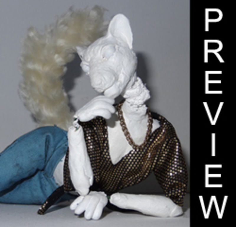 sculpture doll pose able cat wip Sculptures  Poseable Cat dolls  Sculptures