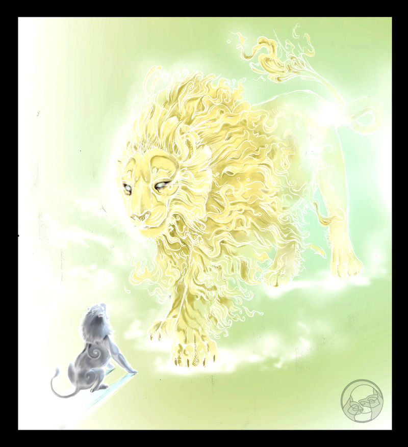digital digital painting lion fantasy Digital Drawings I stand before you Digital Drawings