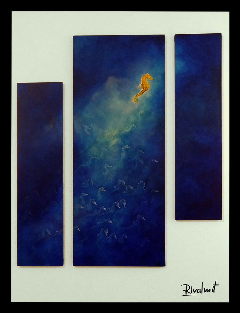 painting acrylic seahorse Paintings Seahorse Paintings