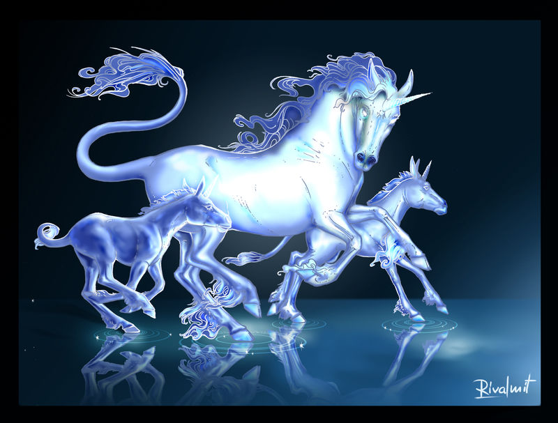 digital digital painting horse unicorn mythology Digital Drawings  Mirage Digital Drawings