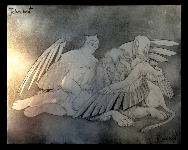 print harpy sphinx mythology metal Other Curiosity Other