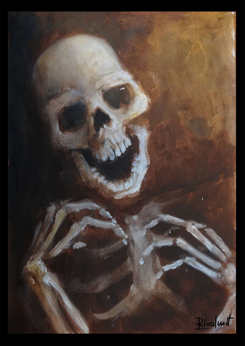 painting death acrylic skull Paintings Skeleton Paintings