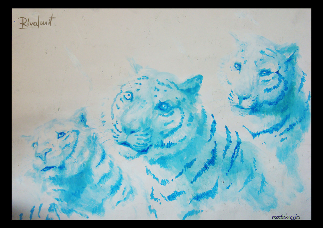 drawing acrylic tiger Wild Spirits