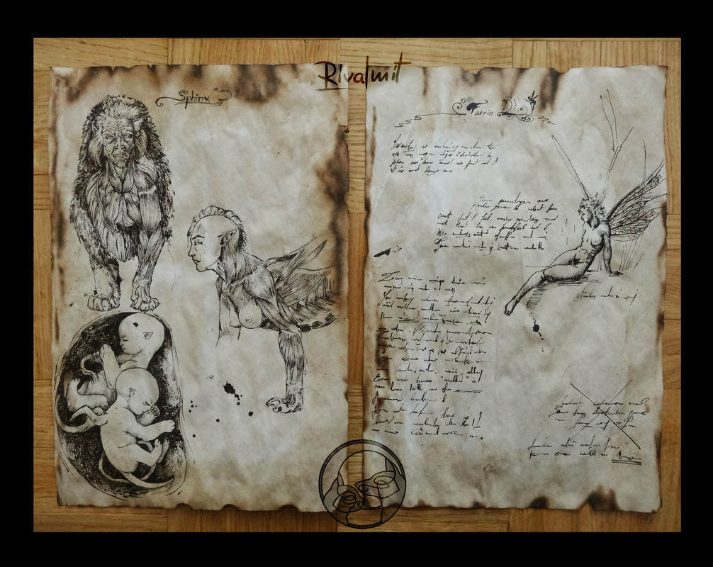 drawing sphinx mythology anthropomorphic fairy Study pages