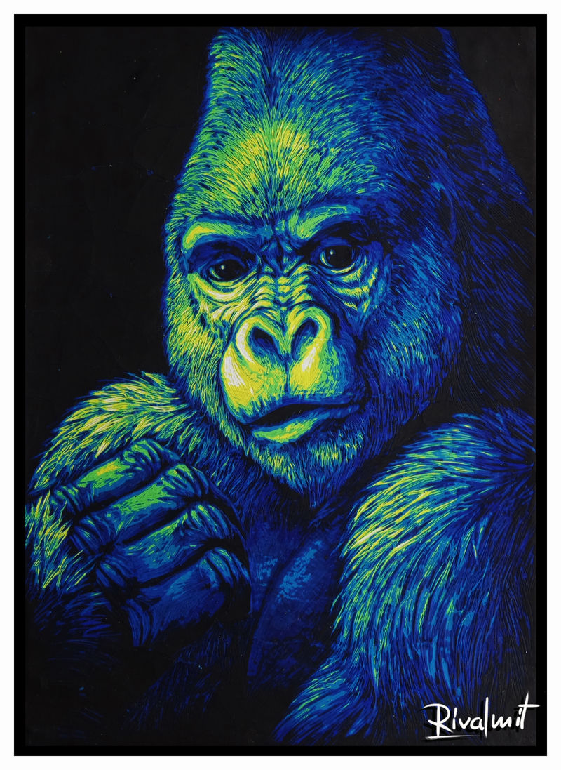 painting scratchboard gorila Paintings Gorila Paintings