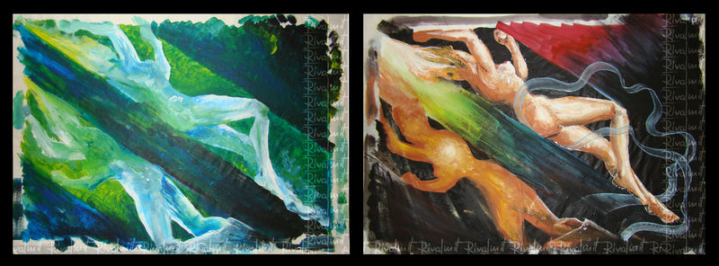 painting woman acrylic Paintings Contrast Paintings