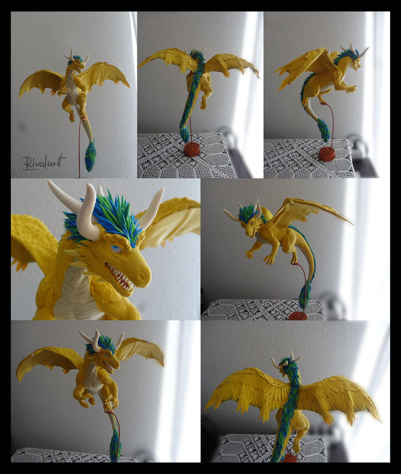 sculpture companion dragon Sculptures companion commission dragon @Myriaderoc Sculptures
