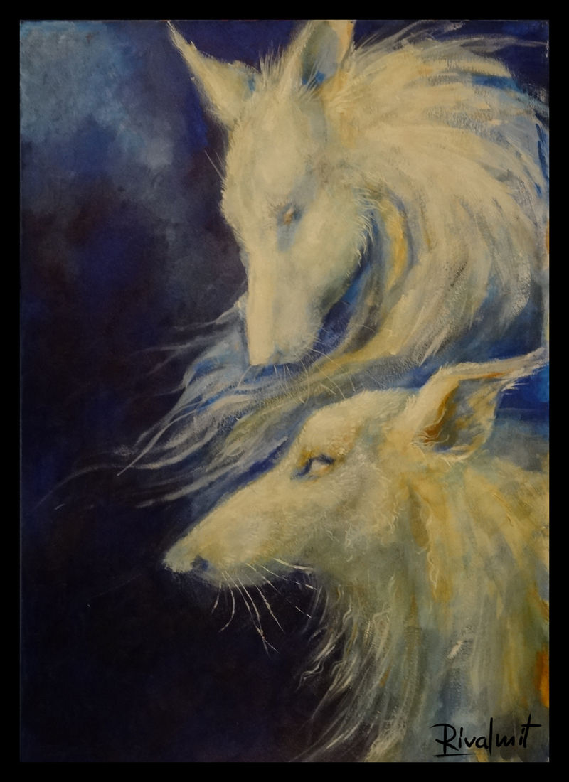 painting acrylic dog borzoi Paintings  K9 Painting  Paintings