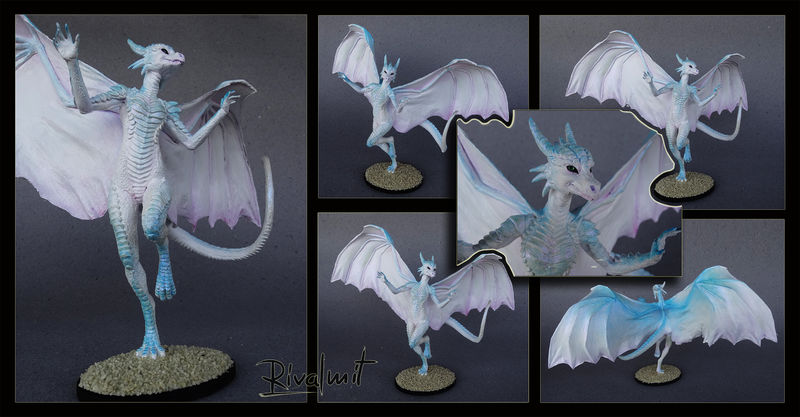 sculpture dragon anthropomorphic Sculptures White dragoness Sculptures