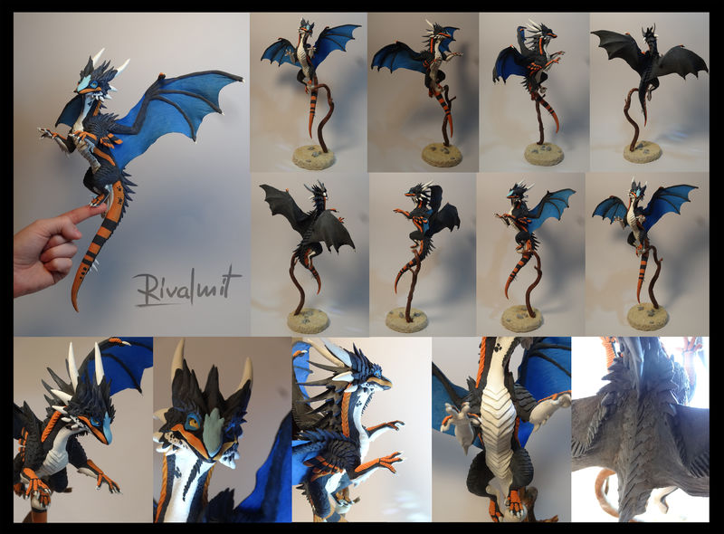 sculpture companion dragon Sculptures  commission dragon Companion  @Dinkypteryx  Sculptures