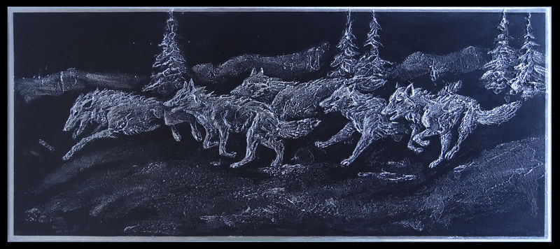 3d painting wolf Paintings Family run Paintings
