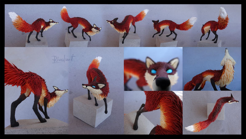 sculpture fox Sculptures Fantasy Fox Sculptures