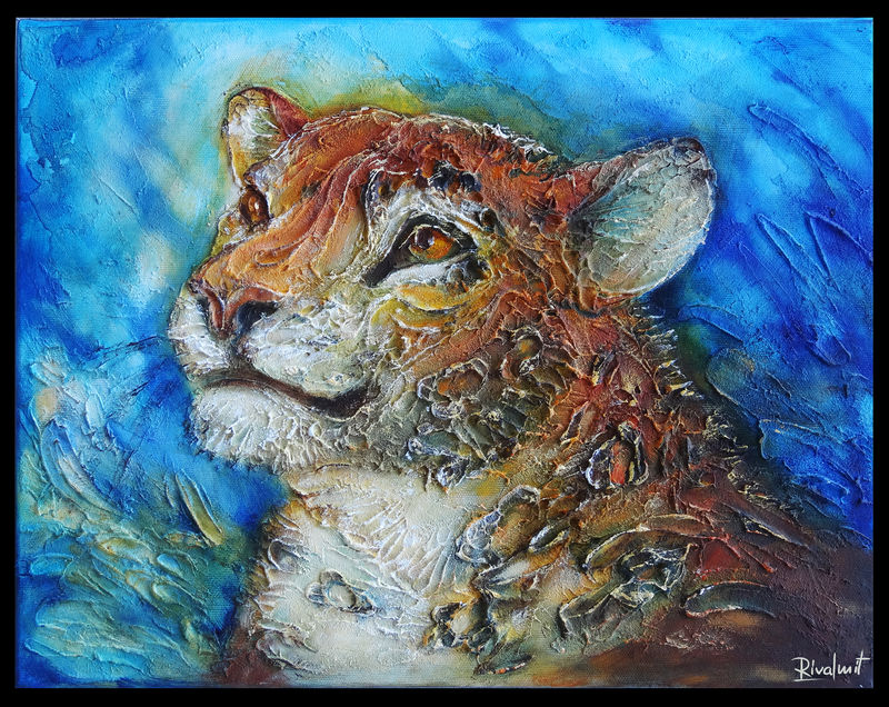 3d painting leopard painting Paintings Leopard Paintings