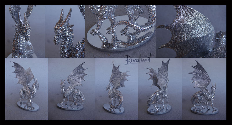 sculpture dragon diamond mixed media eurofurence 22 Sculptures Diamond dragon Sculptures