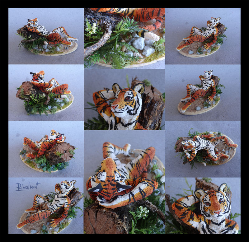 sculpture tiger anthropomorphic eurofurence ef22 Sculptures Tiger's lazy days Sculptures