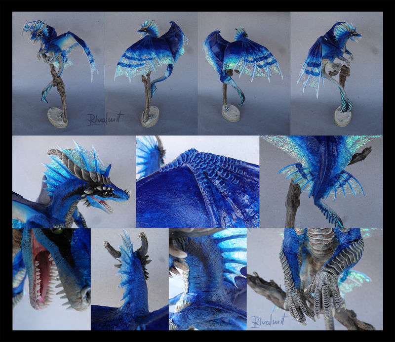 companion sculpture dragon large Sculptures Blue colossal Sculptures