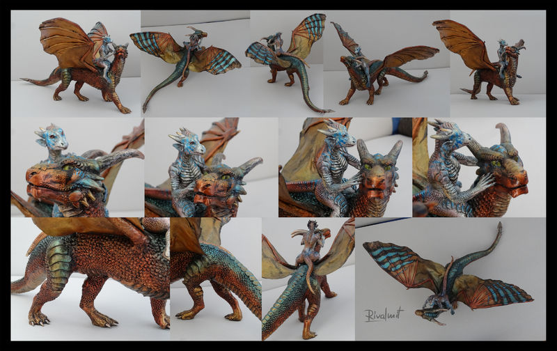 eurofurence dragon anthropomorphic sculpture Sculptures Dragon rider  Sculptures