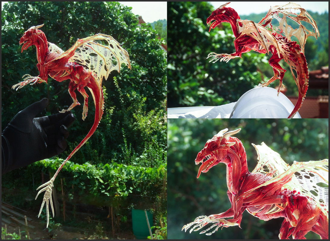 ef22 companion sculpture dragon skeleton The Price of Immortality