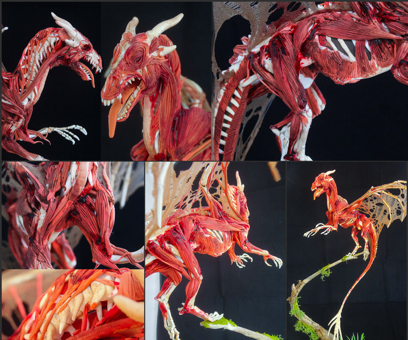 ef22 companion sculpture dragon skeleton Sculptures The Price of Immortality Sculptures