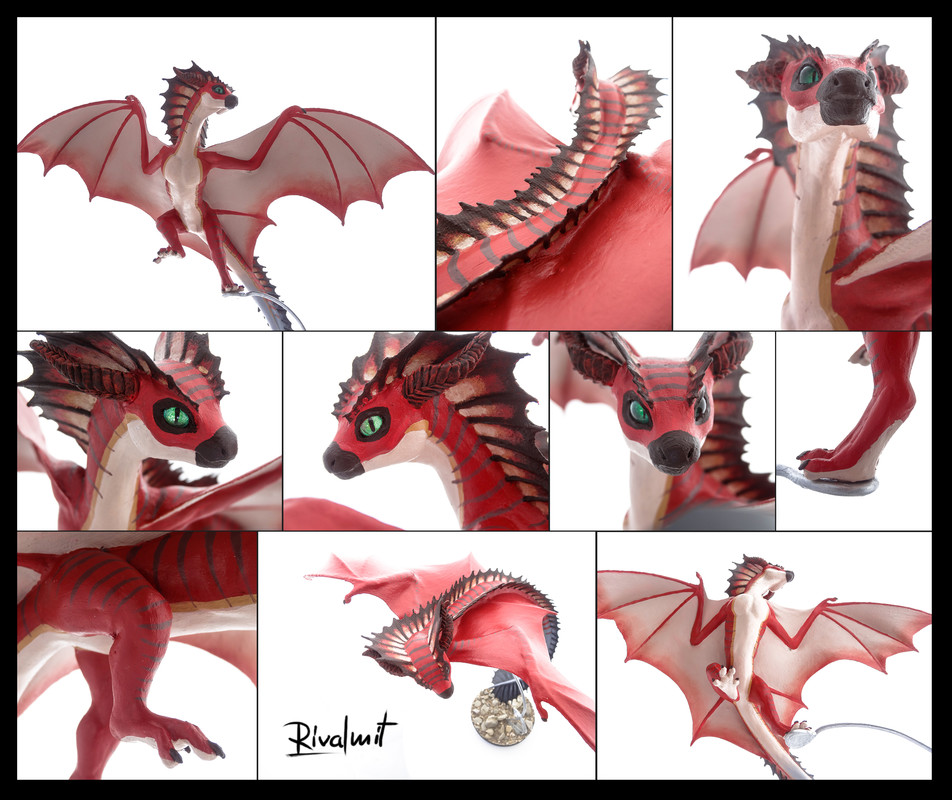dragon wyvern companion sculpture commission Khyaber commission