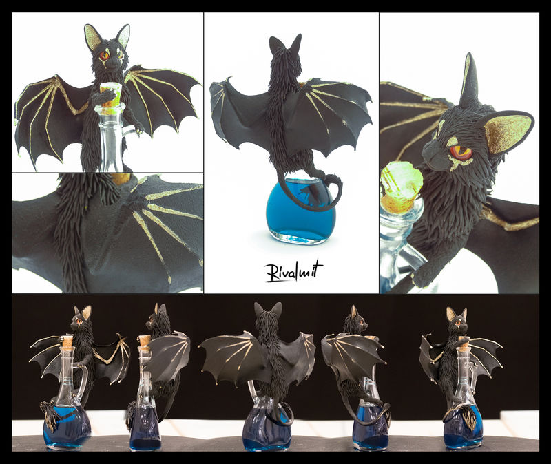 Bat kitty #9 sculpture batkitty cat potion ef23 eurofurence