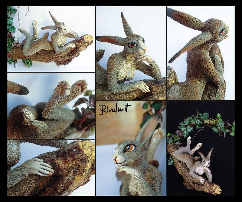 sculpture rabbit bunny Sculptures Bunny lady  Sculptures