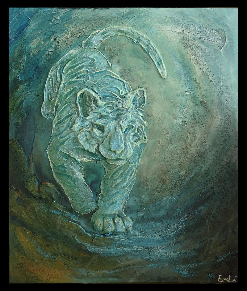 tiger painting 3d painting Paintings Glow in the dark tiger Paintings