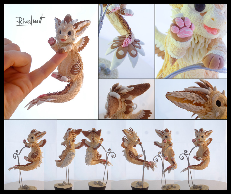 companion sculpture commission dragon dad dutch angel dragon Puk  Companion