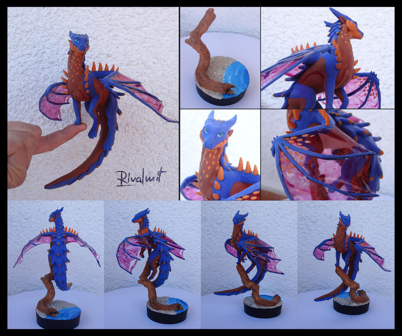 dragon commission companion sculpture balaning Sculptures Rasha Companion Sculptures