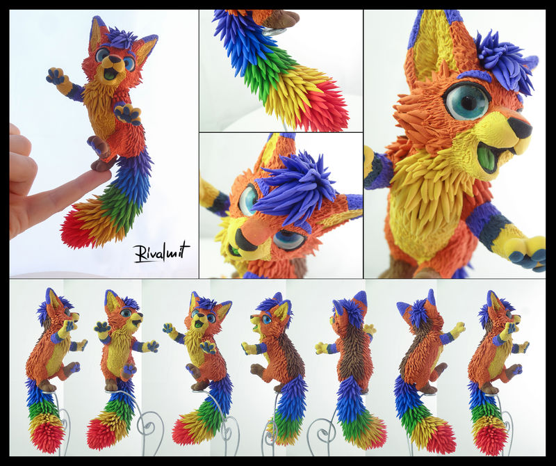 Edgar Companion fox rainbow sculpture companion