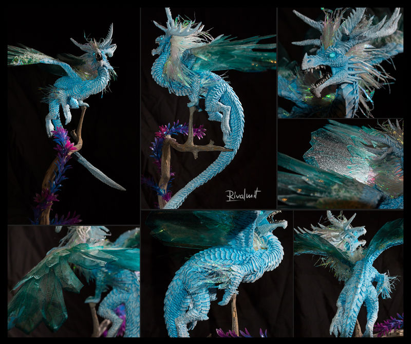 dragon companion ice sculpture eurofurence ef24 Sculptures Hau anu - A song of ice  Sculptures