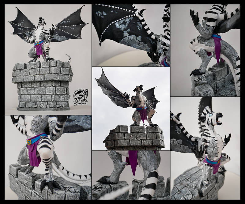 sculpture gargoyle zebra dragon Sculptures Awakening Sculptures