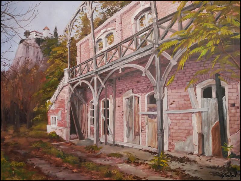 painting arnold rikli bled villa acrylic Paintings Arnold Rikli Villa Paintings