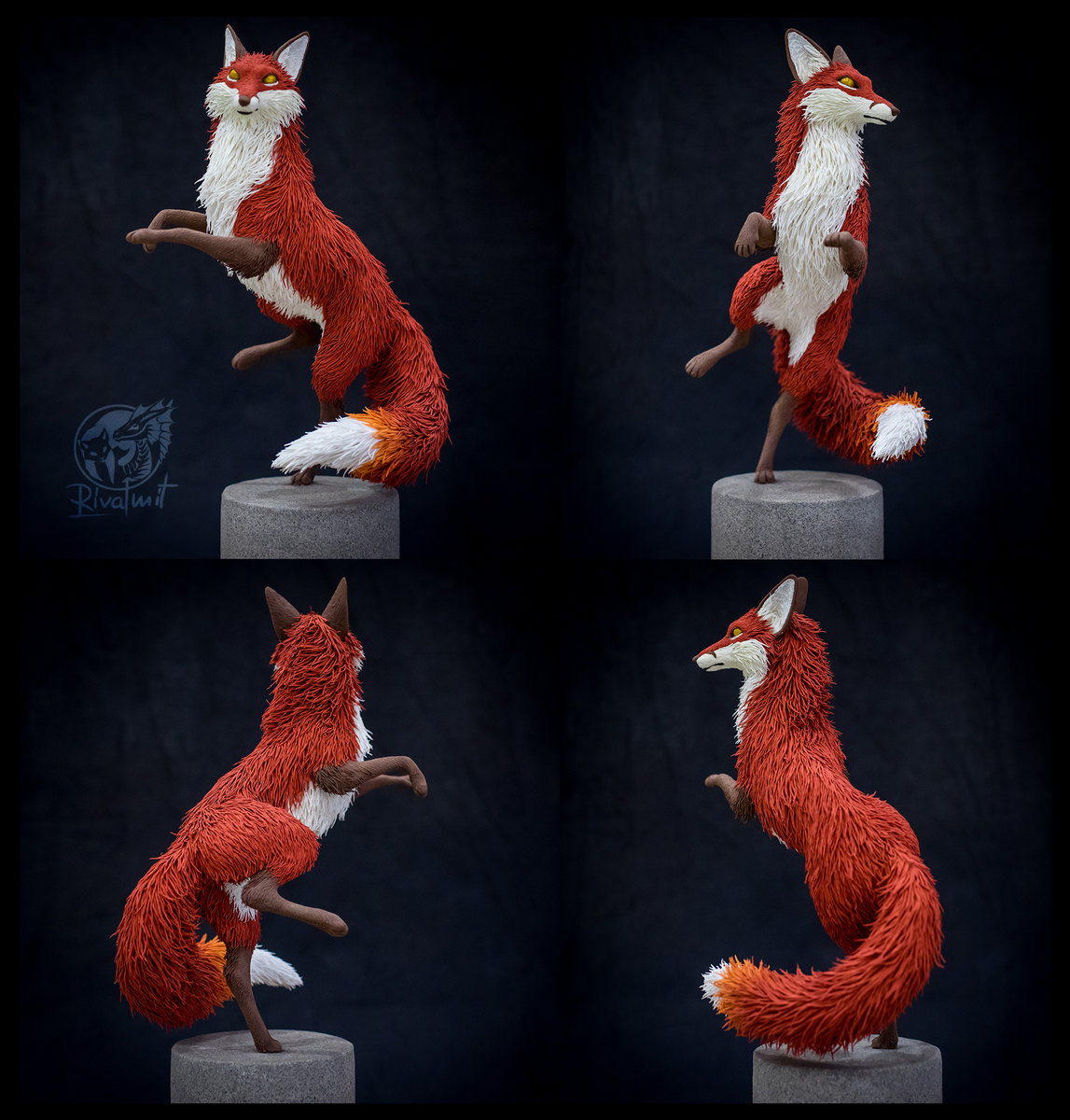 fox sculpture art Dance of the fox