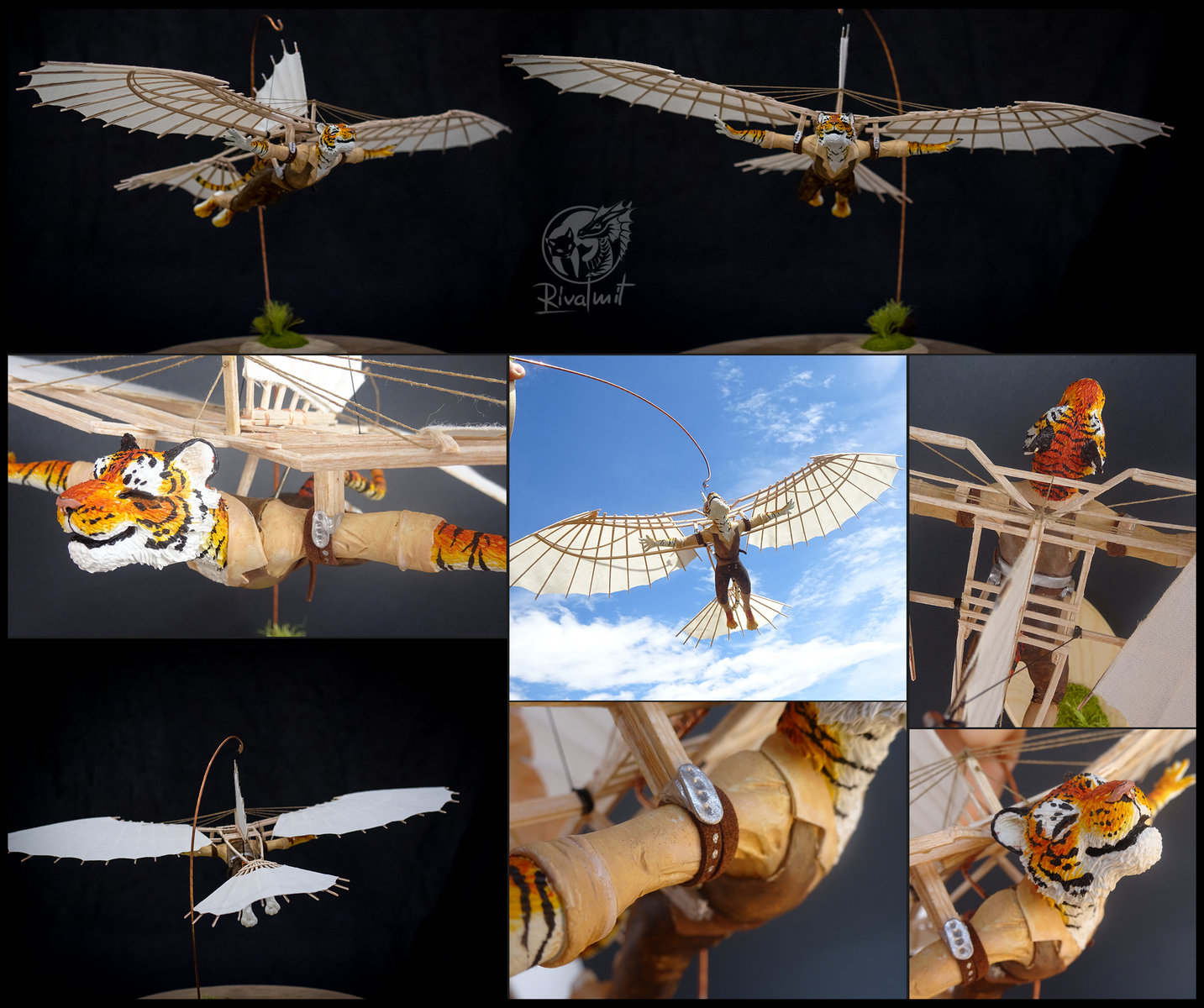 sculpture art tiger machine wings plane davinci Arcanum - Soar on the memorys lost to time