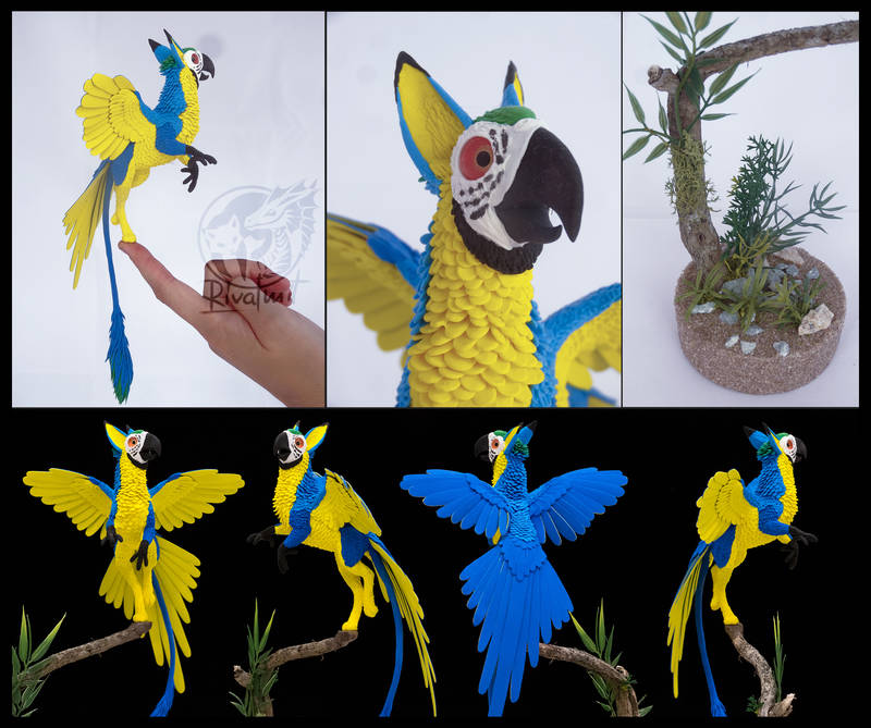 sculpture companion bird parrot balance ef24 eurofurence gryphon mythology Sculptures Qhusi Wakamyu Sculptures