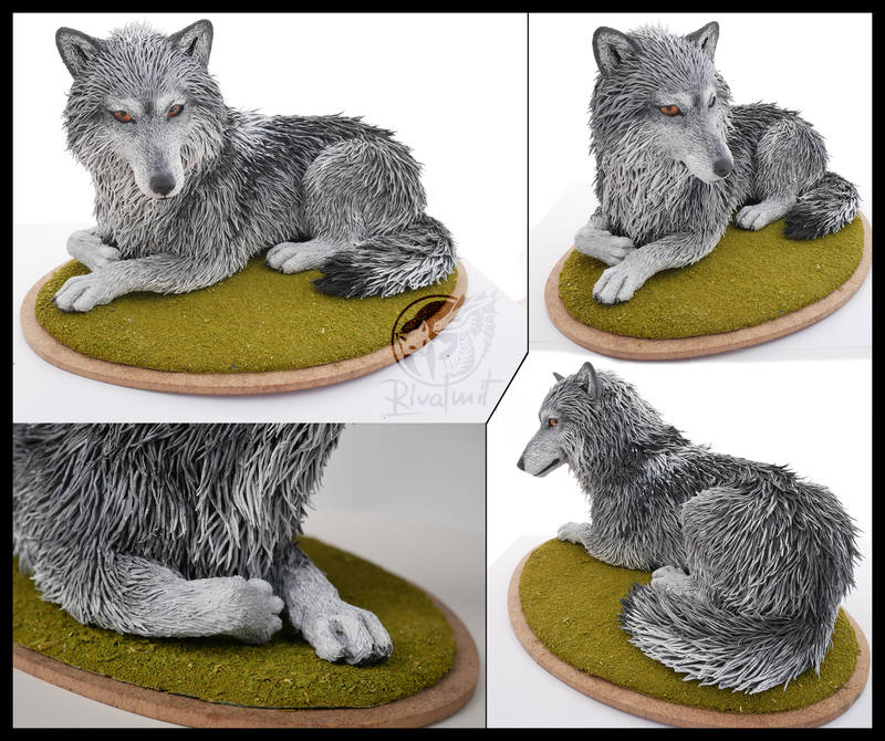 sculpture wolf art canine Sculptures Luna Wolf Sculptures