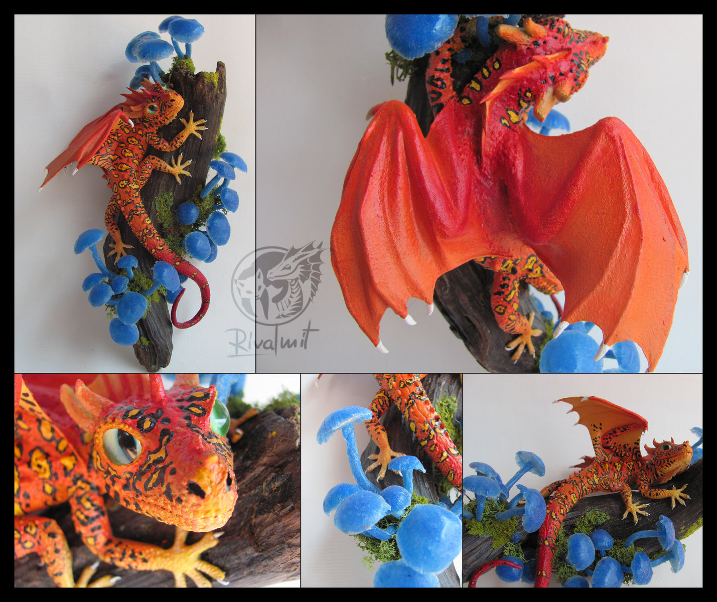 sculpture dragon geco mythology Secret from the depths of the bioluminescent Forest