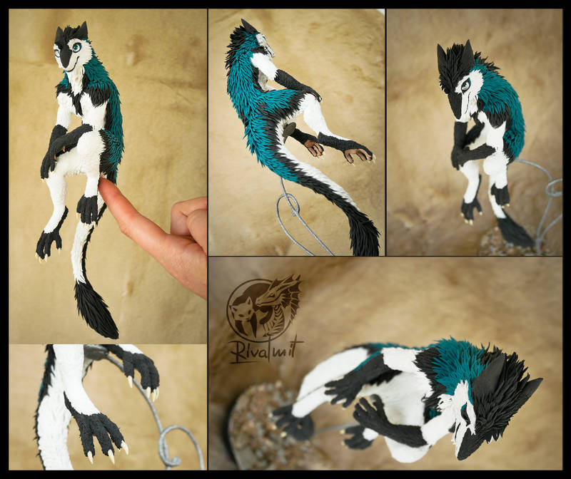 commission sergal furry companion balancing anthropomorphic Sculptures Sergal Arden Sculptures